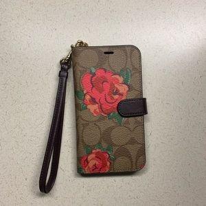 Coach Iphone X wallet phone case